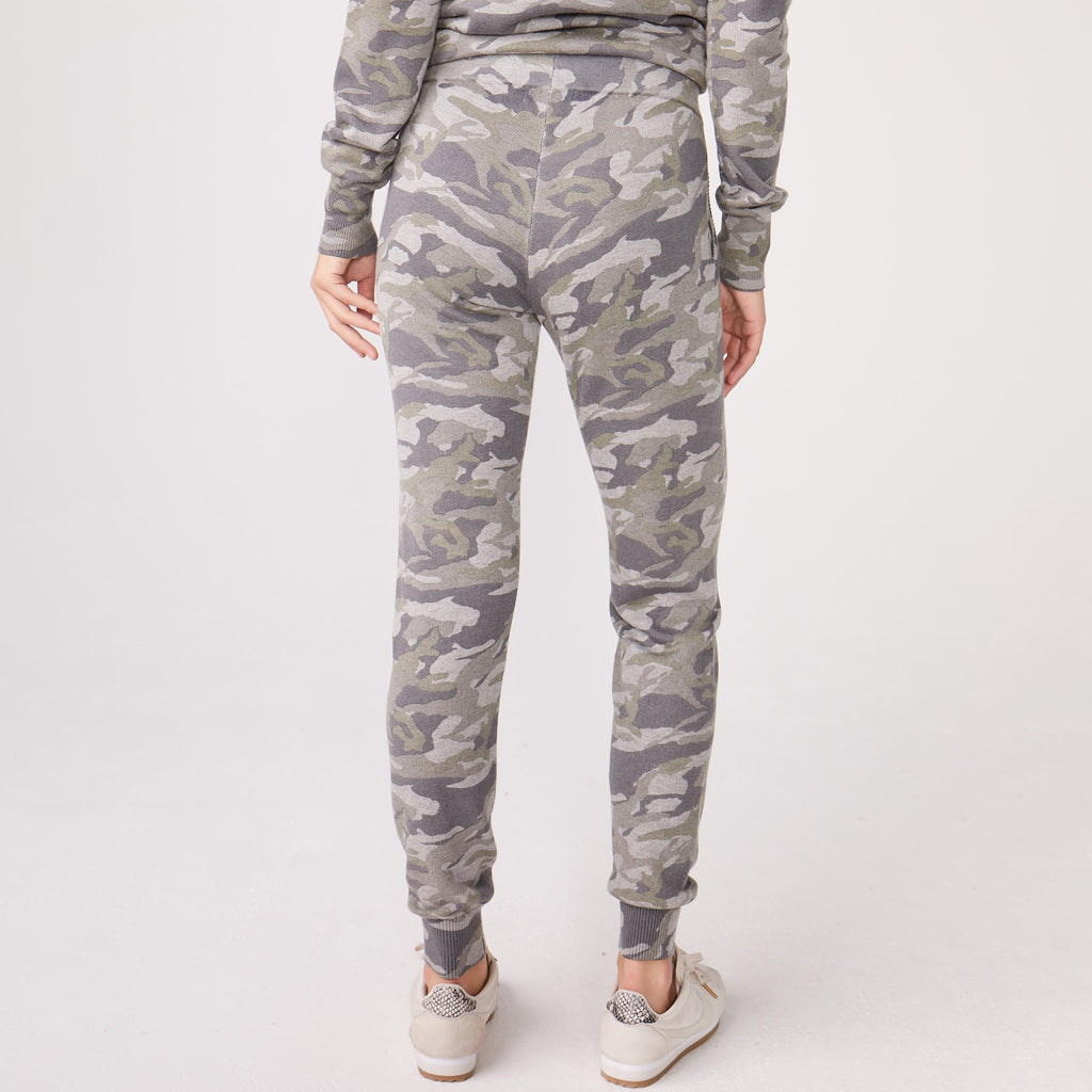 Camo Ribbed Sporty Sweat