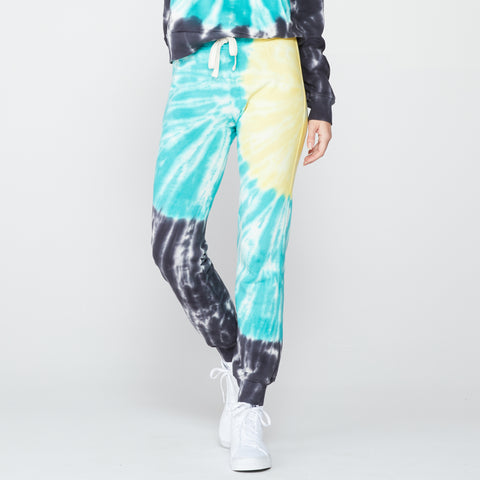 Sunburst Tie Dye Basic Cuff Sweats