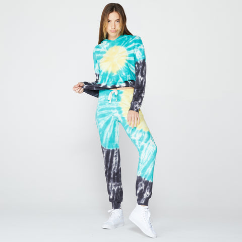 Sunburst Tie Dye Basic Cuff Sweats (4673026097254)