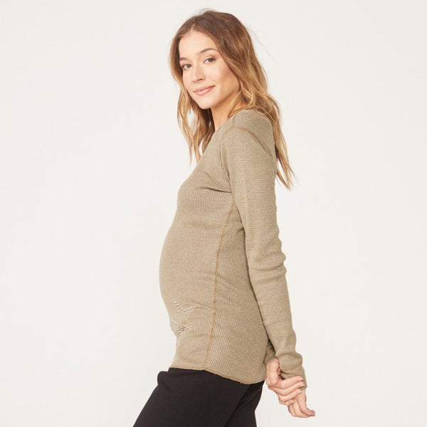 Maternity Star Stud Thermal Top