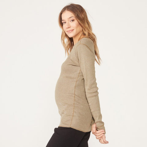 Maternity Star Stud Thermal Top (1636256383078)