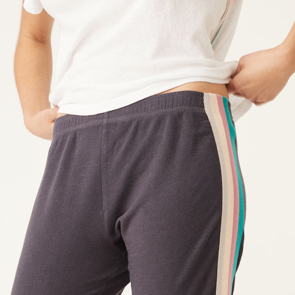 Supersoft Summer Stripe Elastic Waist Sweats