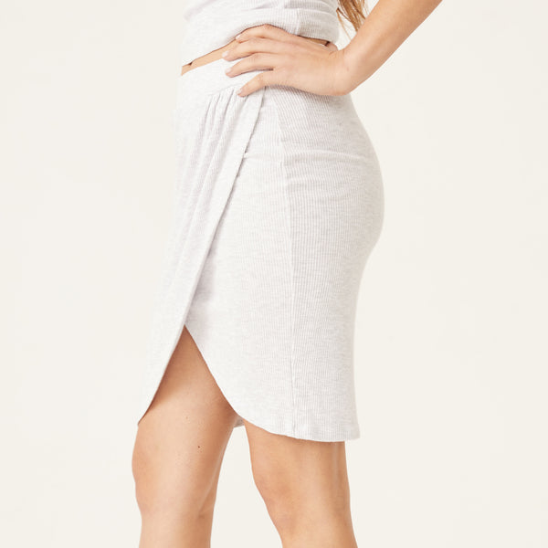Rib Wrapped Skirt