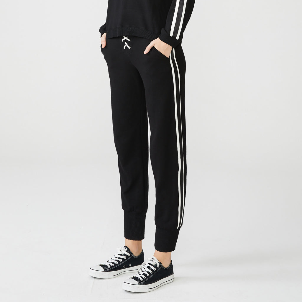 Supersoft Lace Up and Stripe Sweats