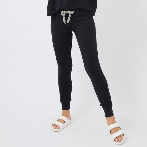 Supersoft Chevron Trim Skinny Sweats