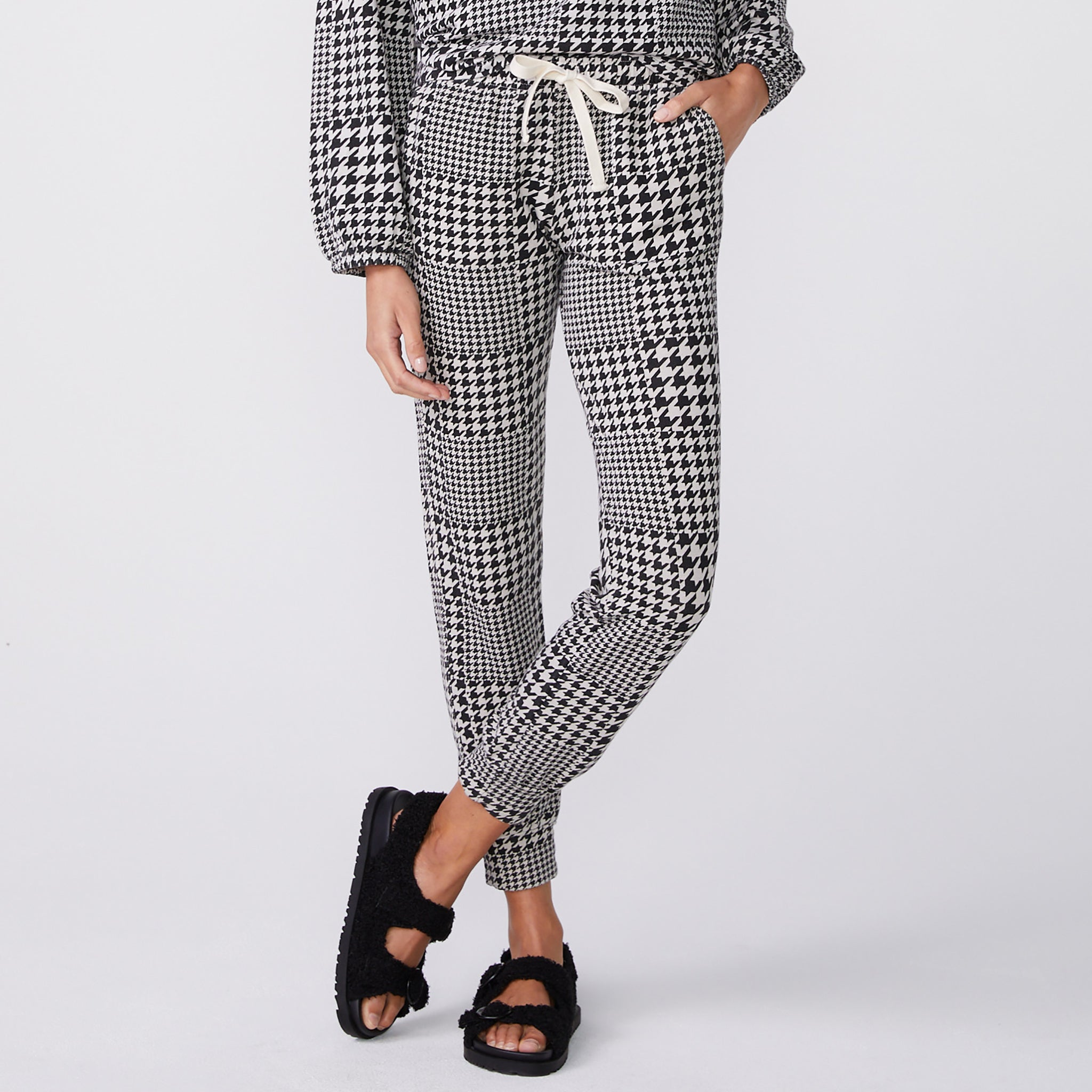 Houndstooth Girlfriend Sweats (6181213569206)