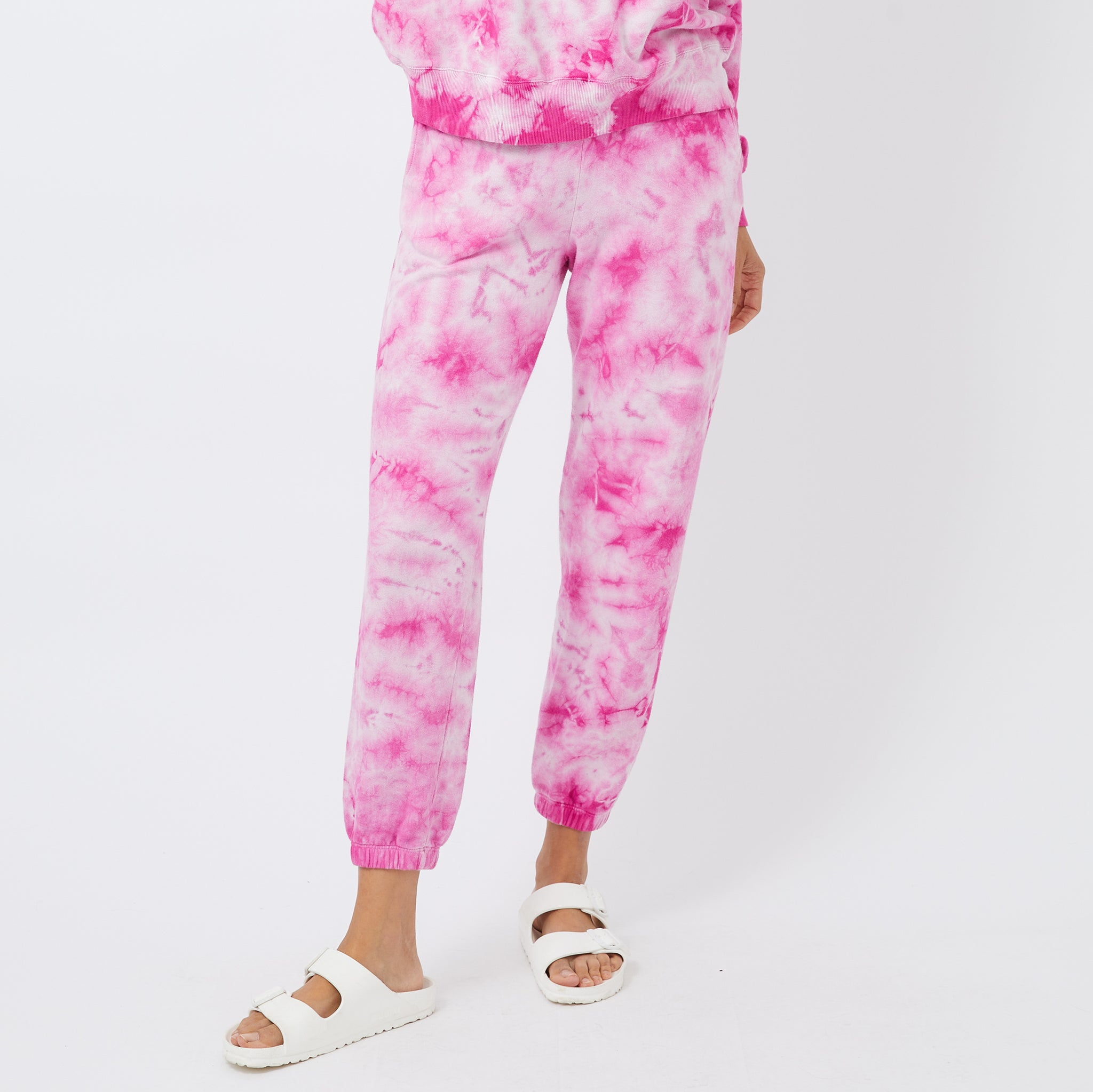Crystal Tie Dye Boyfriend Sweats