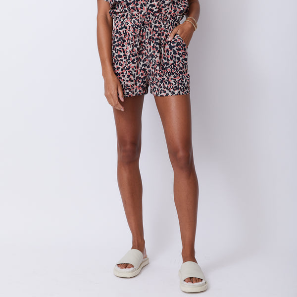 Animal Print Paperbag Shorts