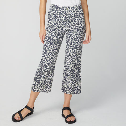Animal Print Straight Leg Pants (4582320701542)