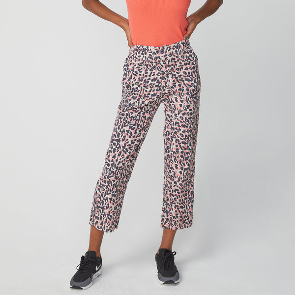Animal Print Straight Leg Pants