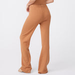 Rib Wide Leg Sweats (6592637239478)