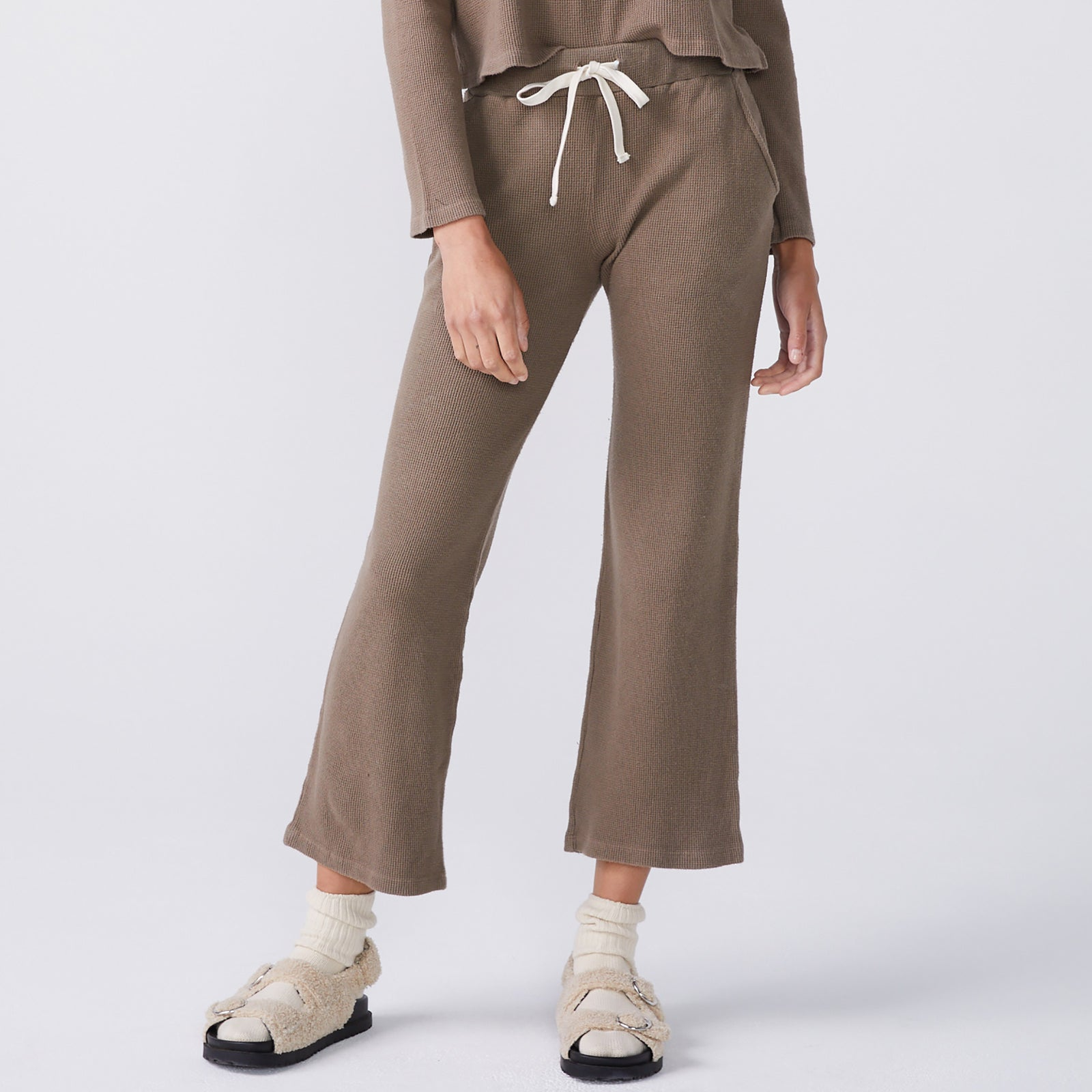 Brushed Thermal Wide Leg Sweats (6214111396022)