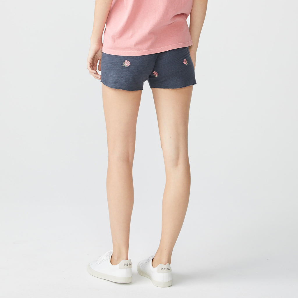 Supersoft Embroidered Rose Shorts