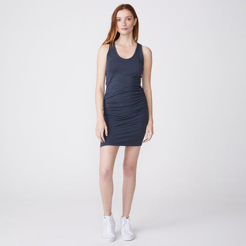 Supersoft Tank Shirred Dress (4503536074854)