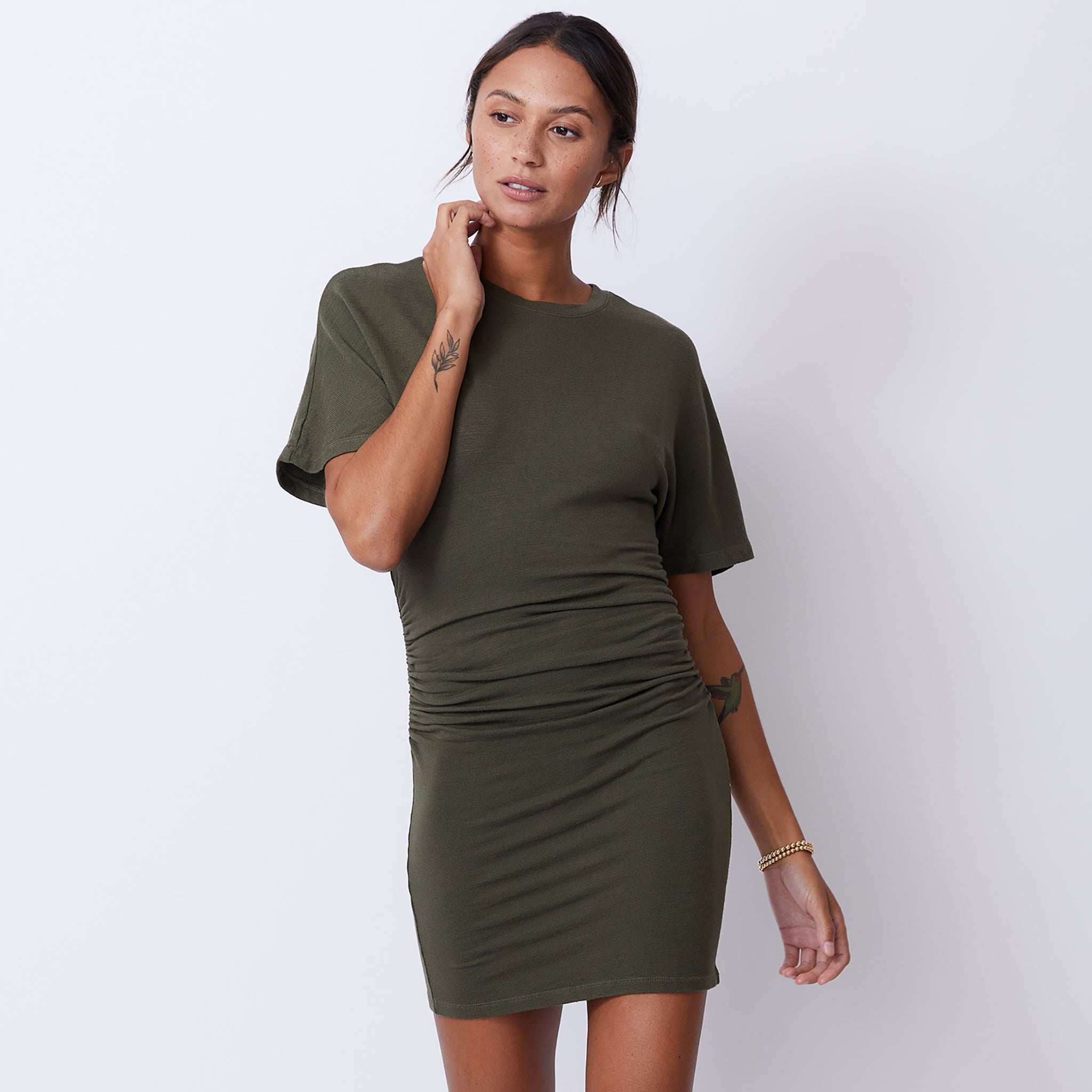 Supersoft Shirred Waist Dress