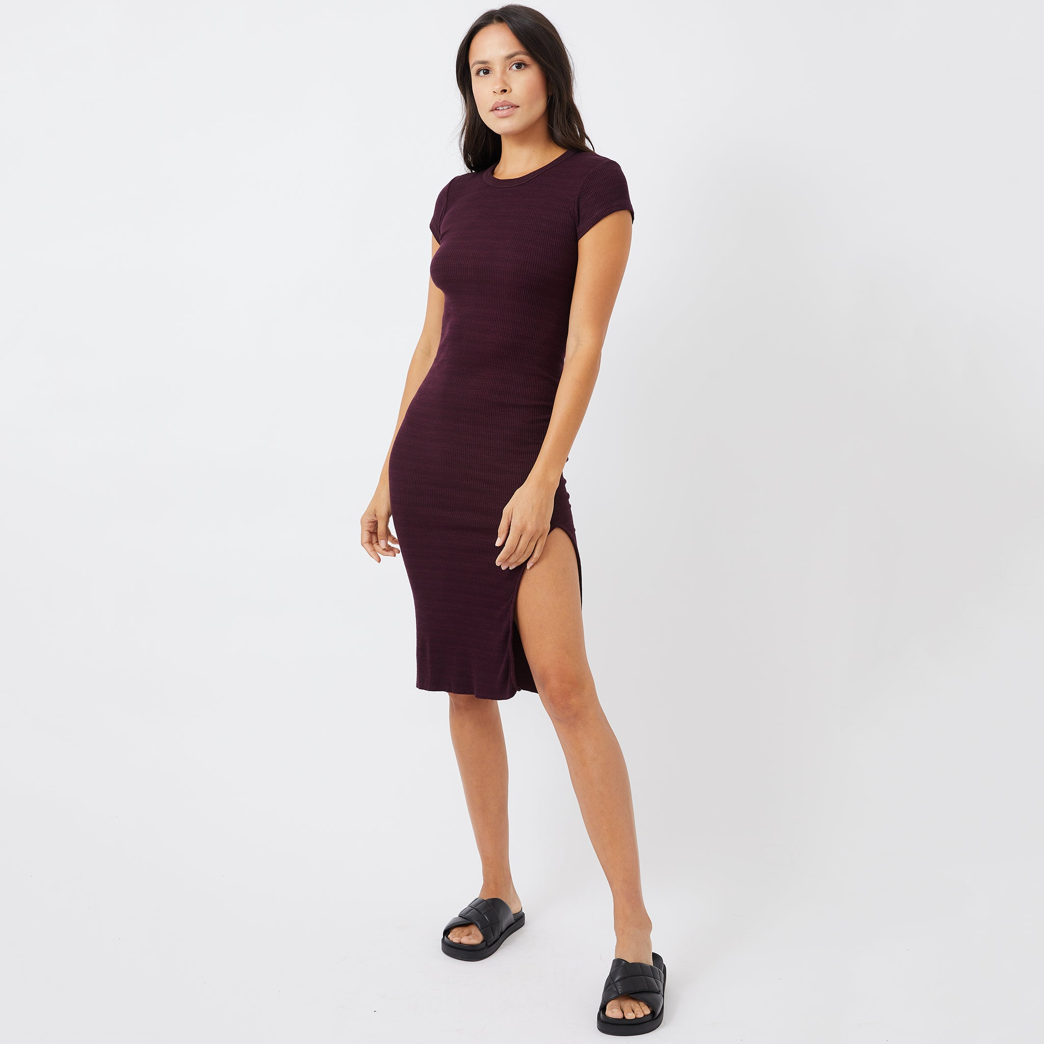 Supersoft Rib Cap Sleeve Dress