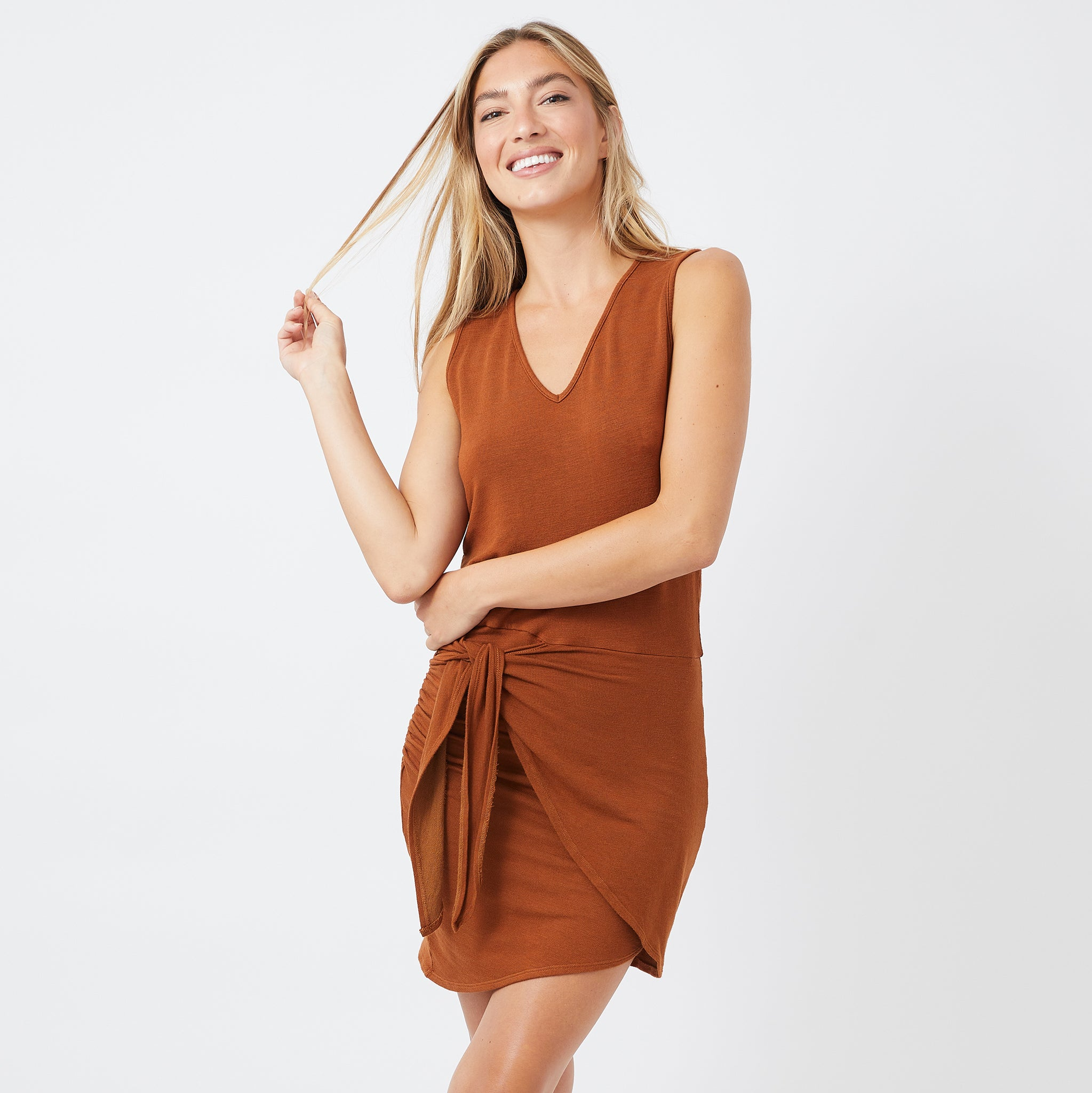Supersoft Tie Tank Dress (4922460274790)