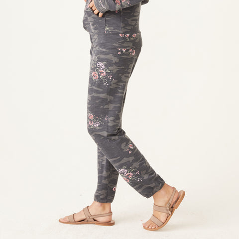 Supersoft Floral Camo Elastic Waist Sweats