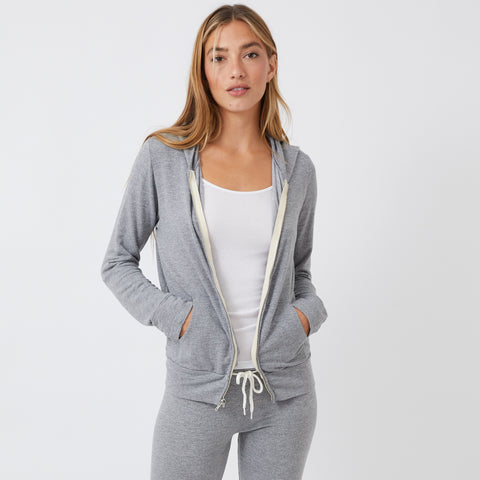 Heather Supersoft Zip Up Hoody (9848154447)