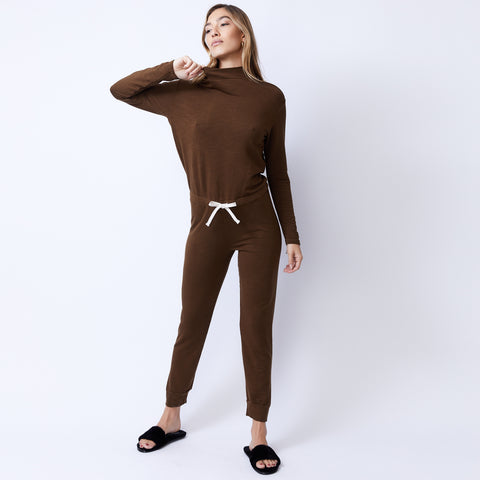 Supersoft Cowl Cuff Jumpsuit