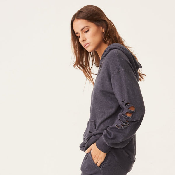 Distressed Oversized Hoody
