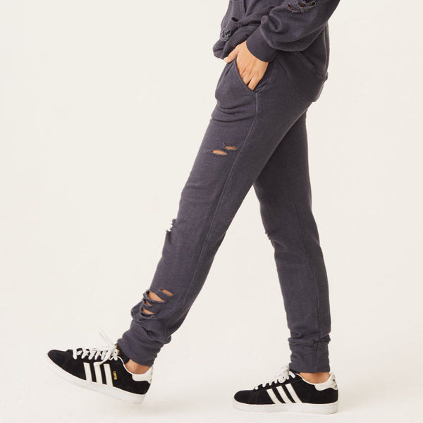 Distressed Sporty Sweats
