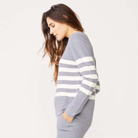 Cashmere Stripe Sweater