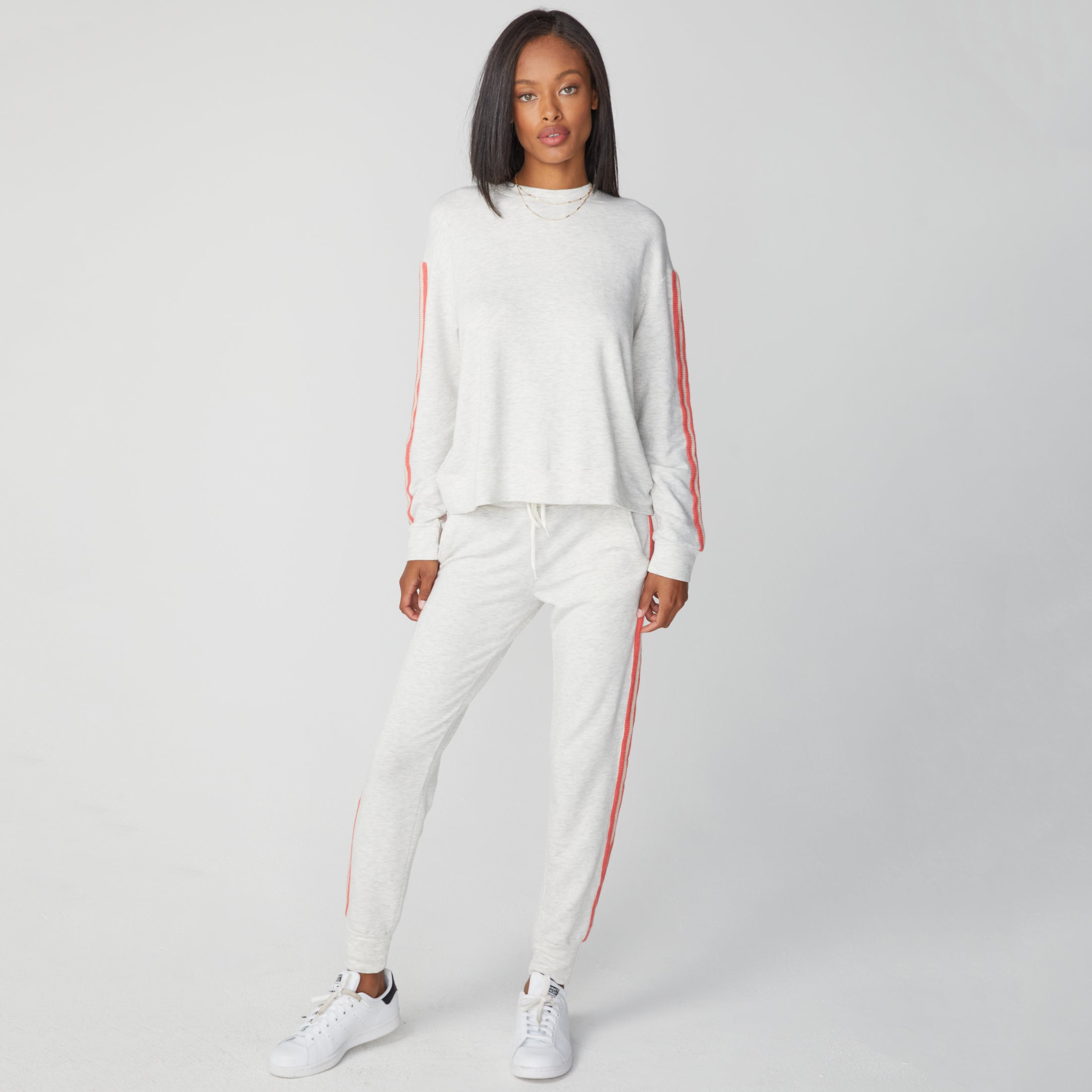 Supersoft Crochet Trim Boxy Sweatshirt