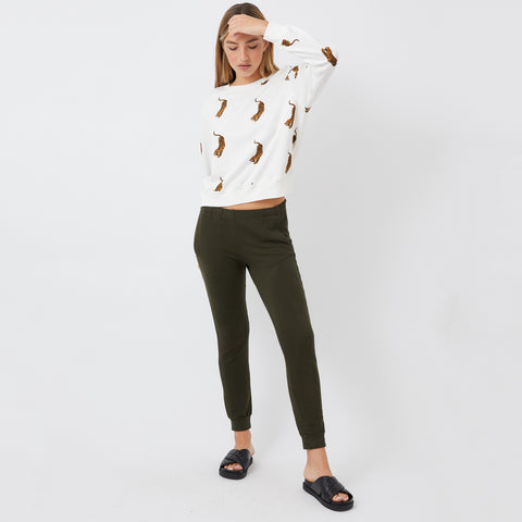 All Over Tiger Boyfriend Sweatshirt (4922458767462)