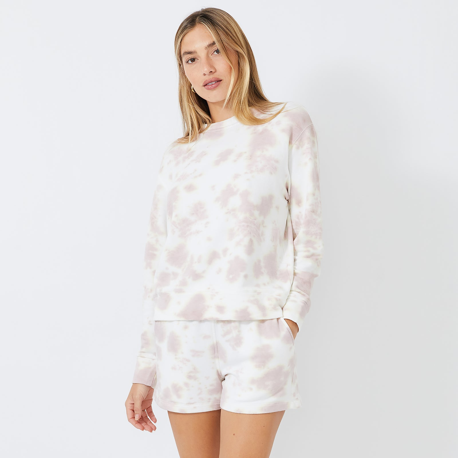 White Out Tie Dye Boyfriend Sweatshirt (4926169808998)