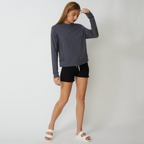 Mesh Mix Sweatshirt