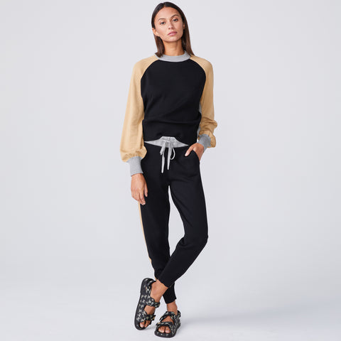Color Block Mock Neck Sweatshirt (4922460176486)