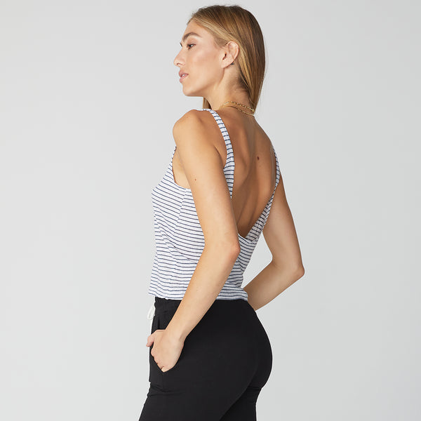 Stripe Low Back Tank