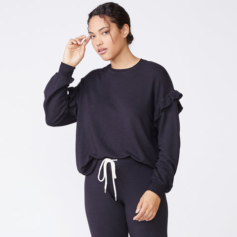 Supersoft Ruffle Sweatshirt (4959308939366)