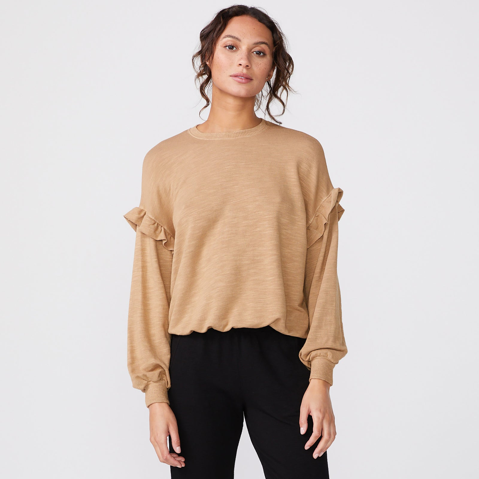 Supersoft Ruffle Sweatshirt (6194333450422)