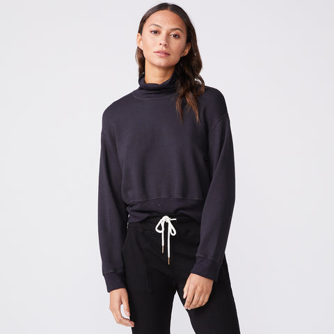 Mock Neck Slouchy Sweatshirt (6147256910006)