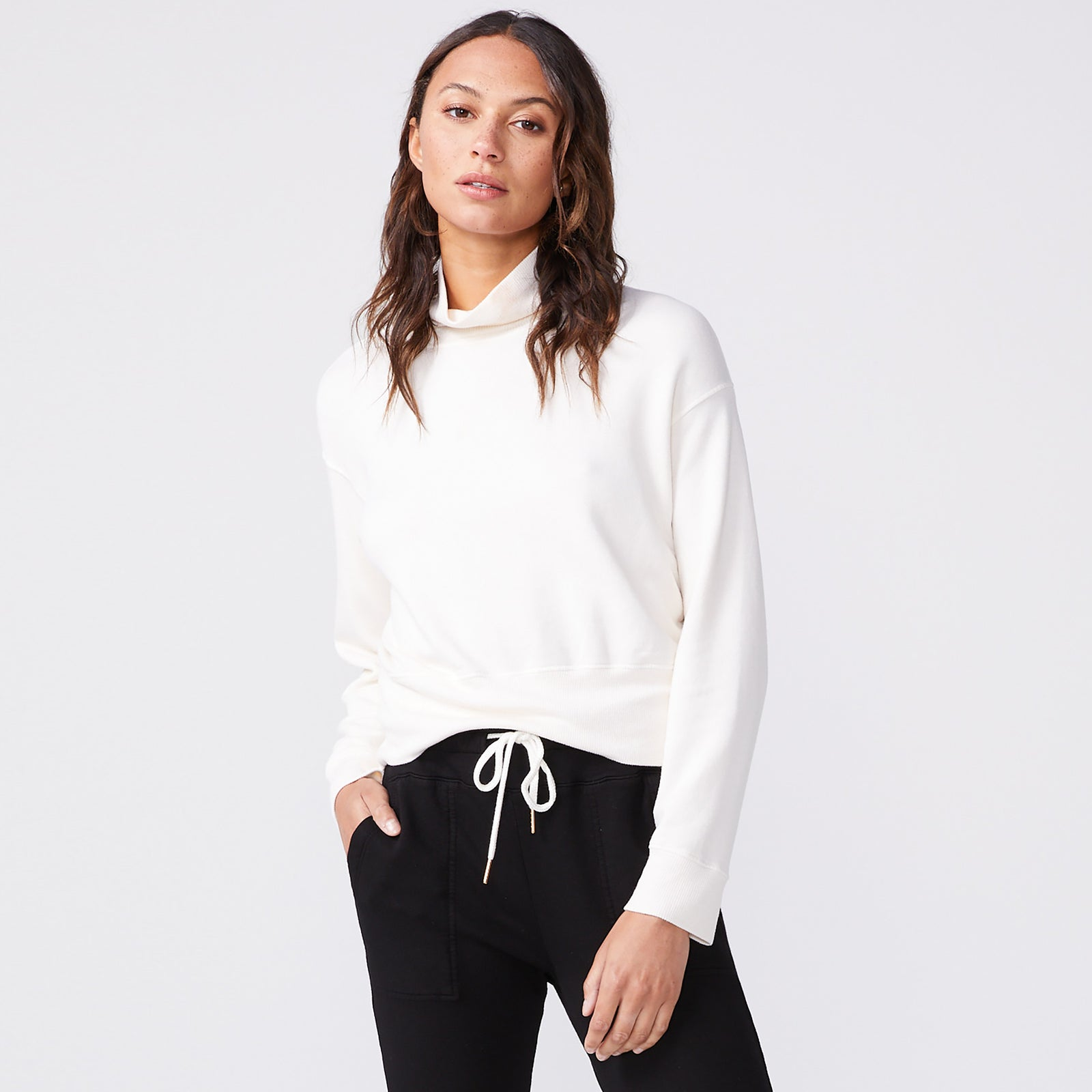 Mock Neck Slouchy Sweatshirt (6147256811702)
