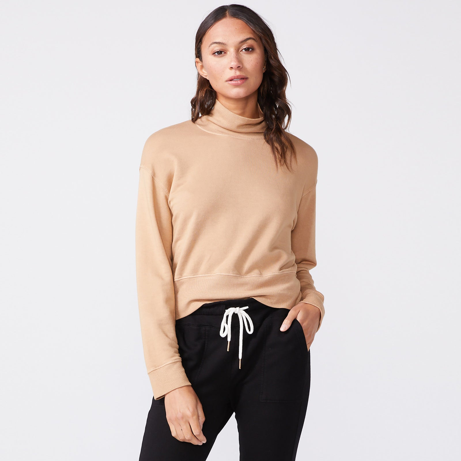 Mock Neck Slouchy Sweatshirt (6147256877238)