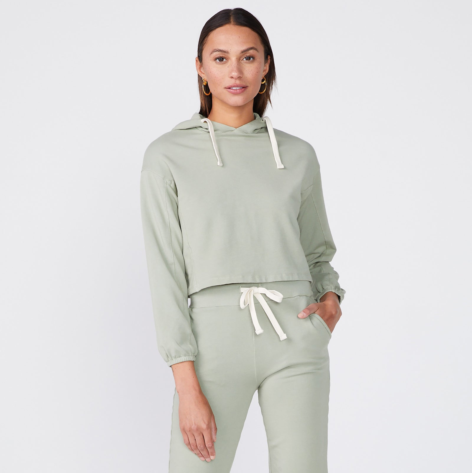 Cropped Pullover Hoody (6551223173302)