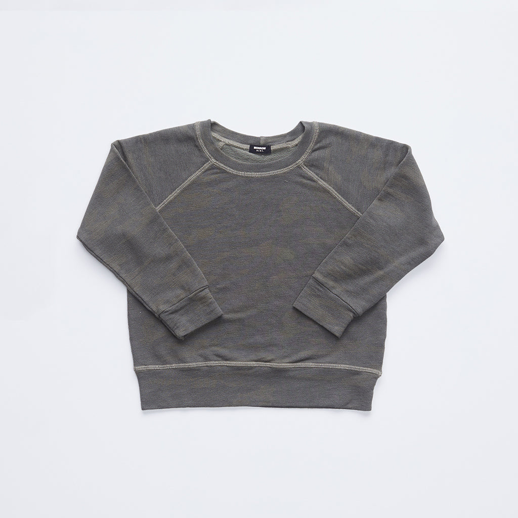 Kids Supersoft Camo Raglan