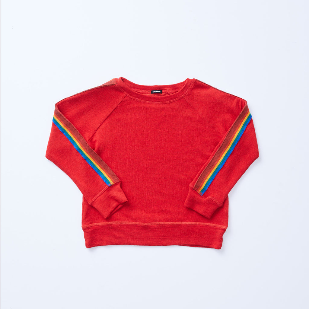 Kids Supersoft Rainbow Stripe Raglan