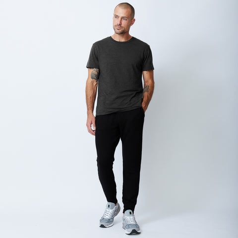 Textured-Tri Blend Relaxed Crew