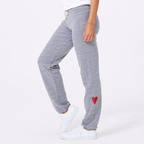 Embroidered Heart Sweats