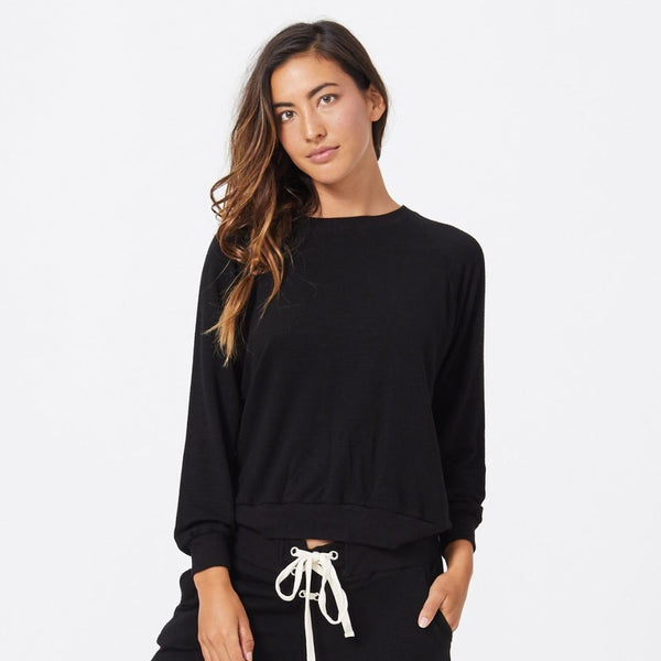 Supersoft Lace Up Sweatshirt
