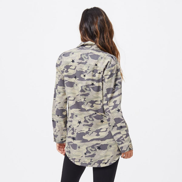 Camo Vintage Jacket with Stardust