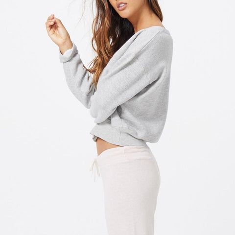 Cozy V Neck Sweatshirt