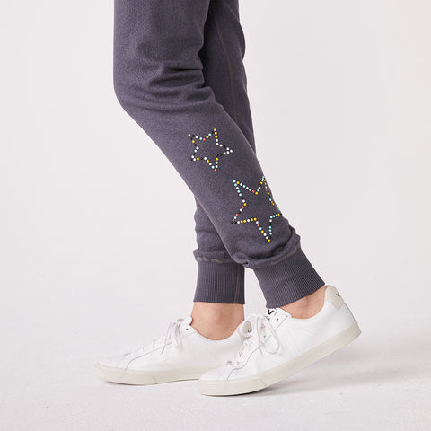 Beaded Star Cuff Sweats