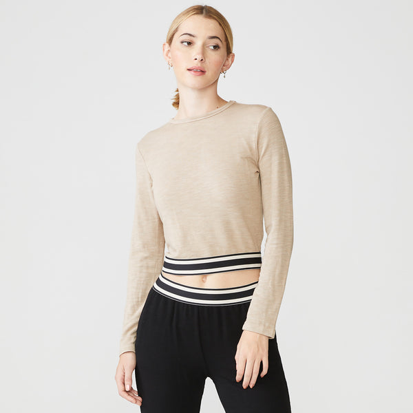 Supersoft Stripe Elastic Top