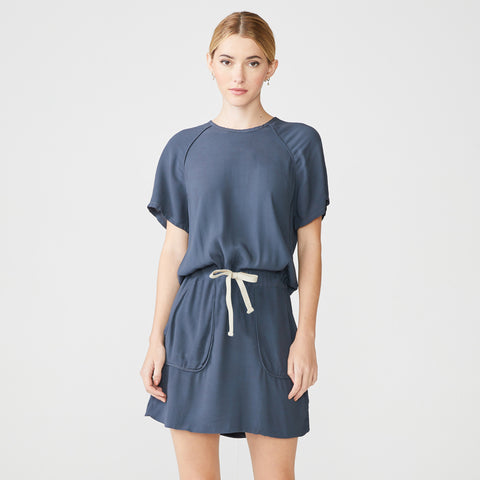 Short Sleeve Crepe Dress (4752033218662)