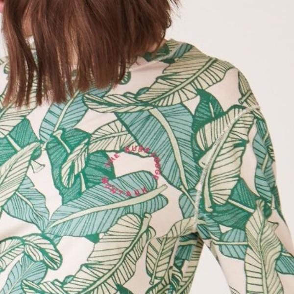 Banana Leaf Slouchy Top